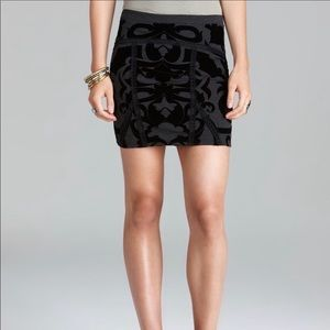 Free People Going For Baroque Velvet Mini Skirt M